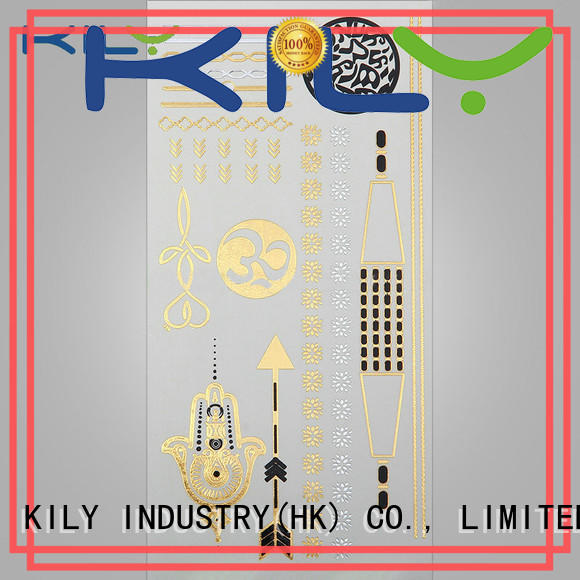 KILY online gold silver metallic tattoo series for sport meeting