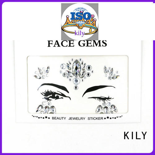 beautiful tattoo KILY Brand face and body jewels factory