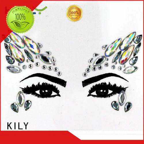 Custom cosmetic mermaid face jewels KILY arts