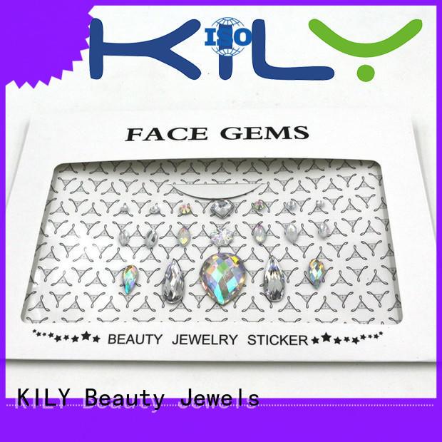 colorful christmas diy face gems KILY Brand