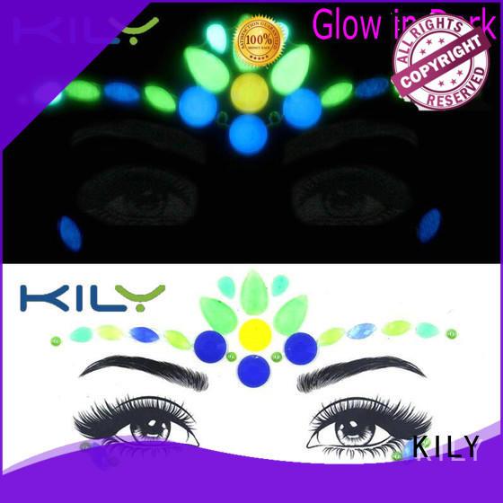 custom glow in dark face gems manufacturer for carnival