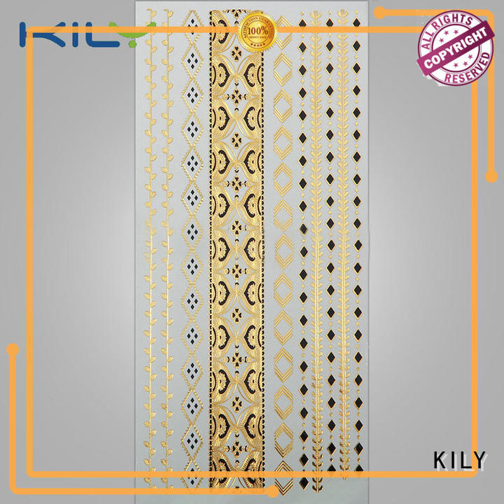 KILY body gold body tattoos manufacturer for beach
