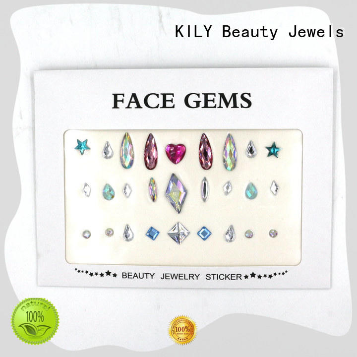 pearl stickers gems for carnival KILY