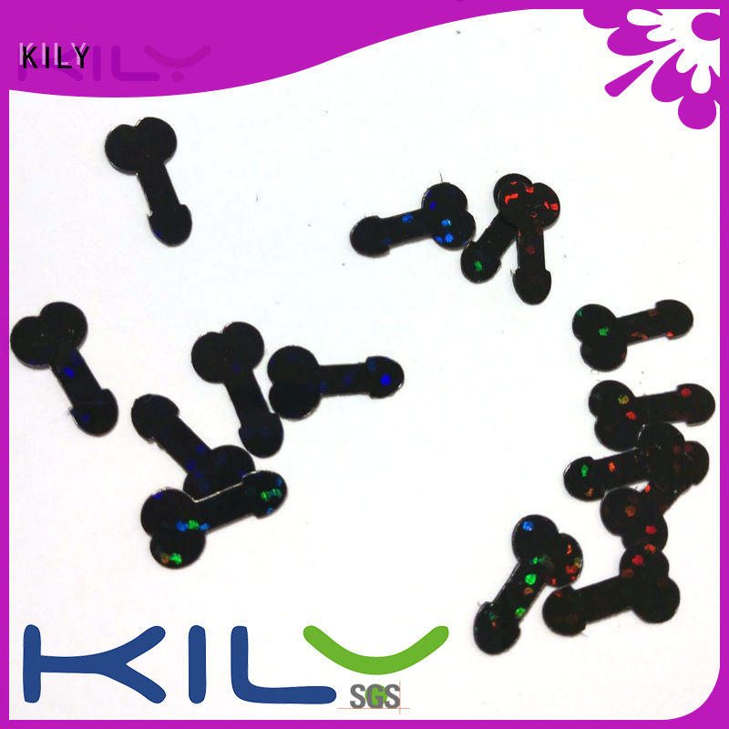 KILY cross shaped glitter wholesale for sport meeting