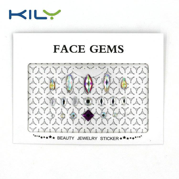 DIY face gems sticker face jewels festival body gems sticker KB-1001