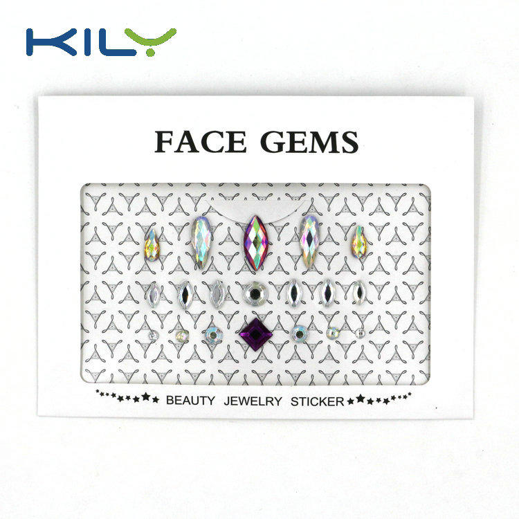 DIY face gems sticker face jewels festival body gems sticker KB-1001