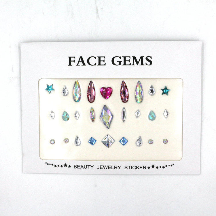 DIY face jewels body gems sticker festival jewels for Christmas KB-1010