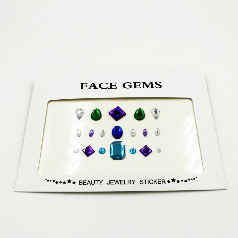 KILY DIY festival body jewels face gems sticker for Halloween KB-1057