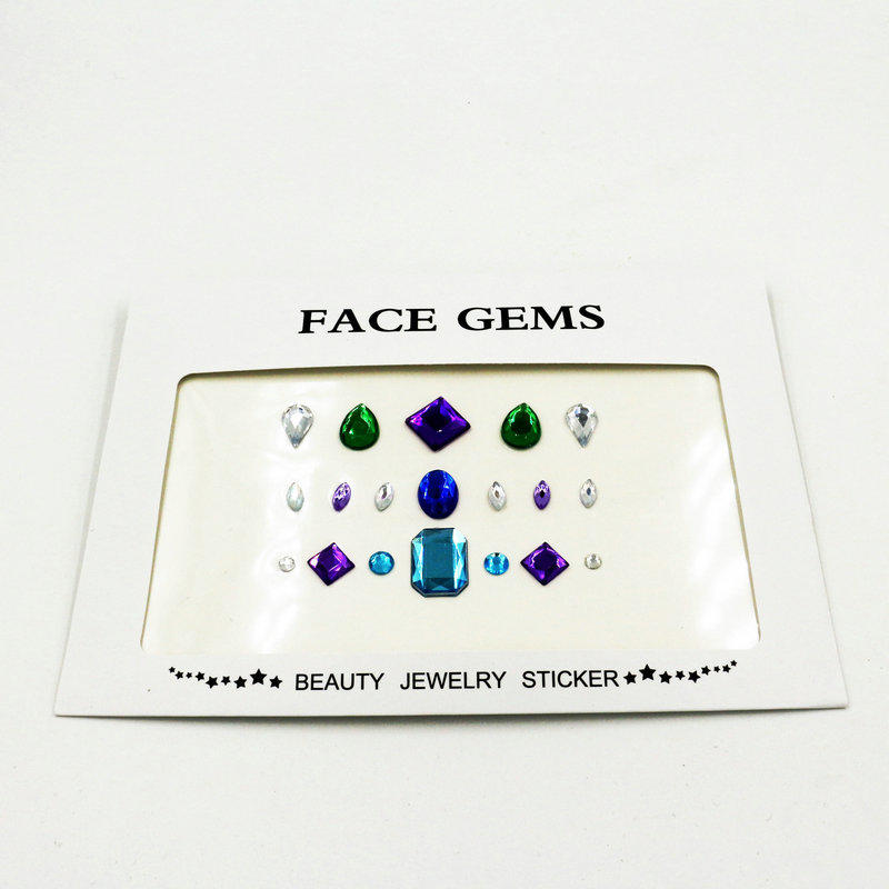 KILY DIY festival body jewels face gems sticker for Halloween KB-1057