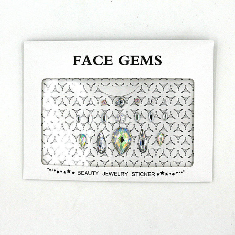 KILY DIY face gems sticker individual crystal for body decoration KB-1060