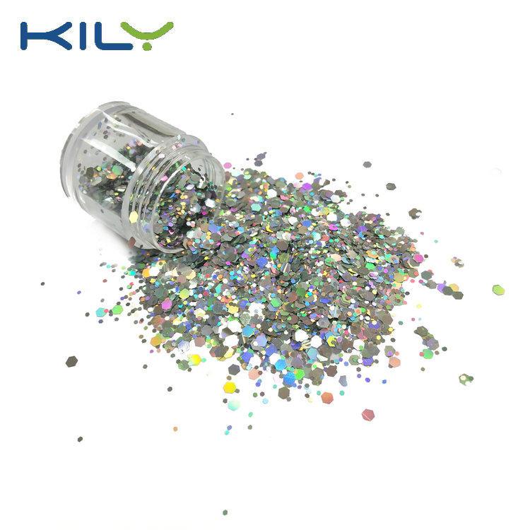 KILY Silver chunky glitter body makeup glitter eye shadow glitter CG14