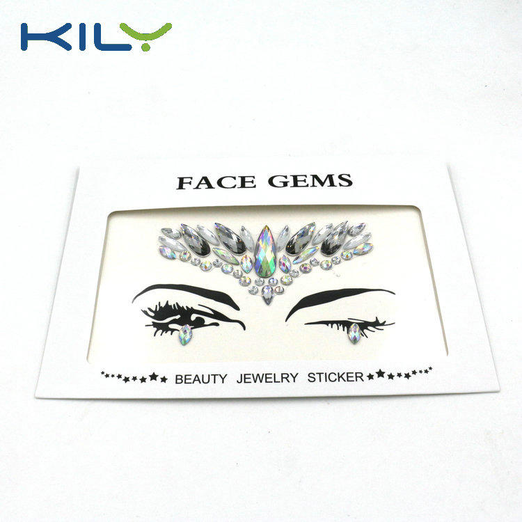 KILY Gypsy Shrine Face Gems Sticker Festival Jewels Body Gems KB-1007