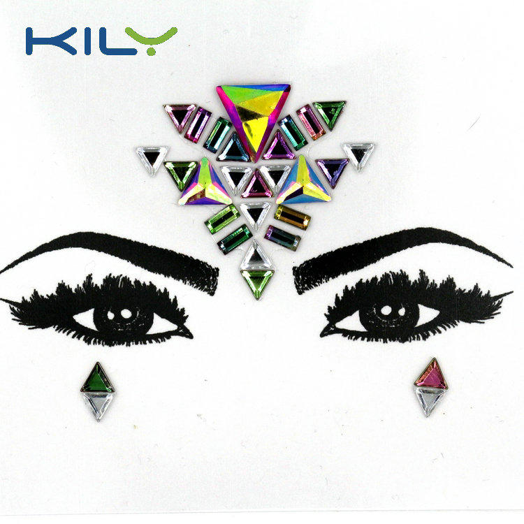 KILY Mermaid styles face gems Carnival designs body jewels sticker KB-1008