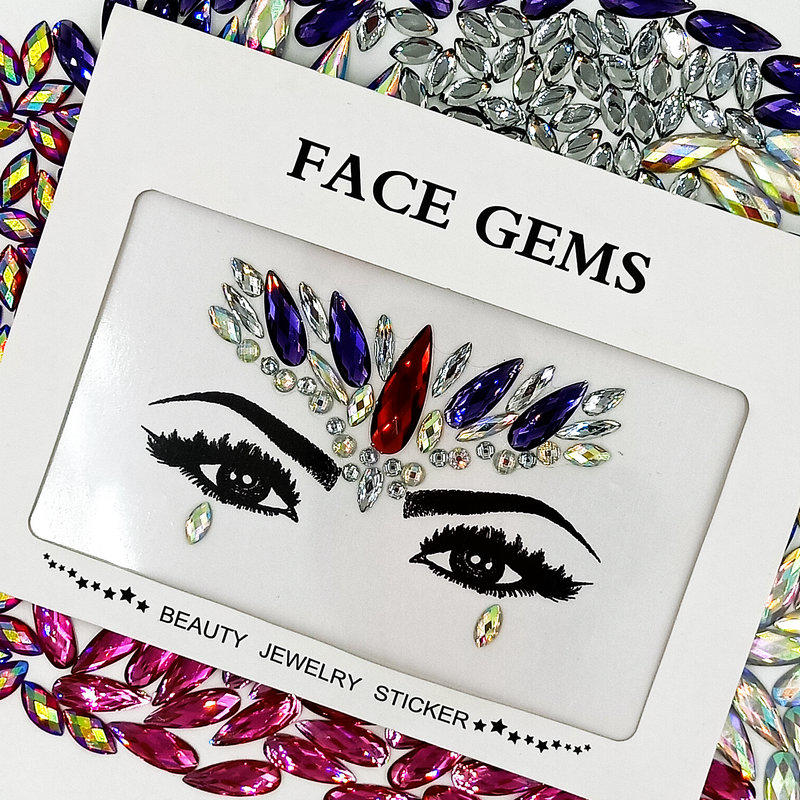 KILY Festival jewels face gems for Christmas body makeup decoration KB-1007-1
