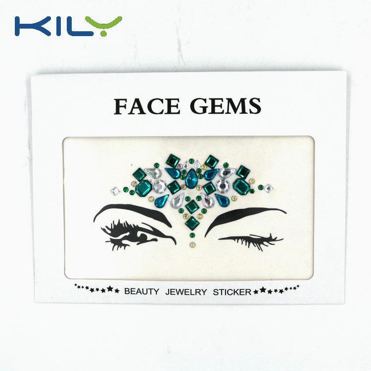 KILY Custom Festival Body Crystal Eye Temporary Face Gems KB-1014