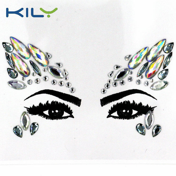 KILY festival face jewels eye crystal gems decoration sticker KB-1015