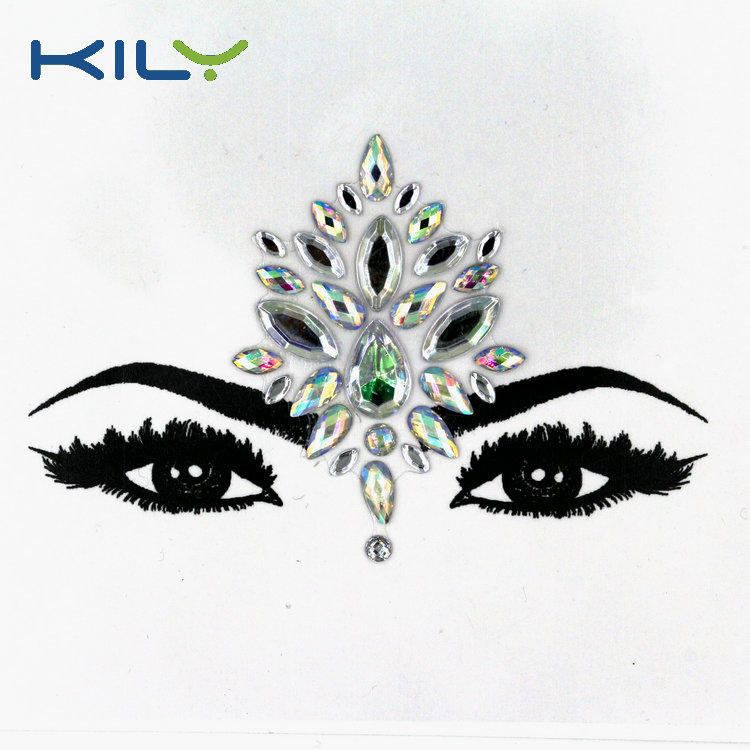 KILY Crystal Face and Body Gems for Music Festival Makeup KB-1027