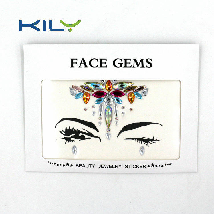 KILY Festival Rhinestone Face Jewels Sticker for Body Art Decoration KB-1059