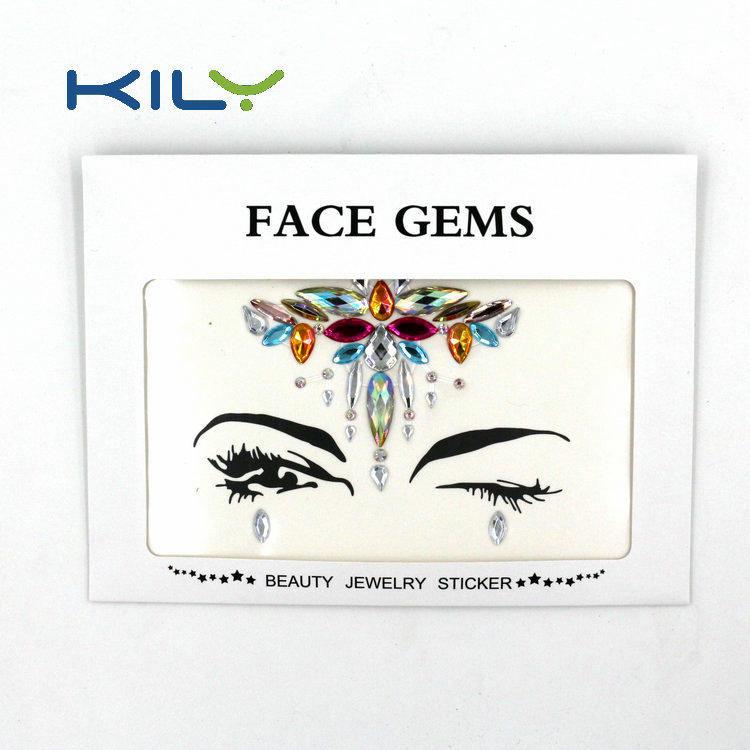 KILY Festival Rhinestone Face Jewels Sticker for Body Art Decoration KB-1059