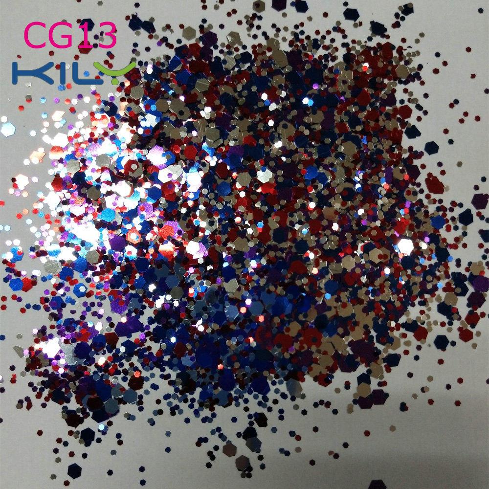 Festival Sparkle Glitter PET Cosmetic Grade Face Glitter CG13