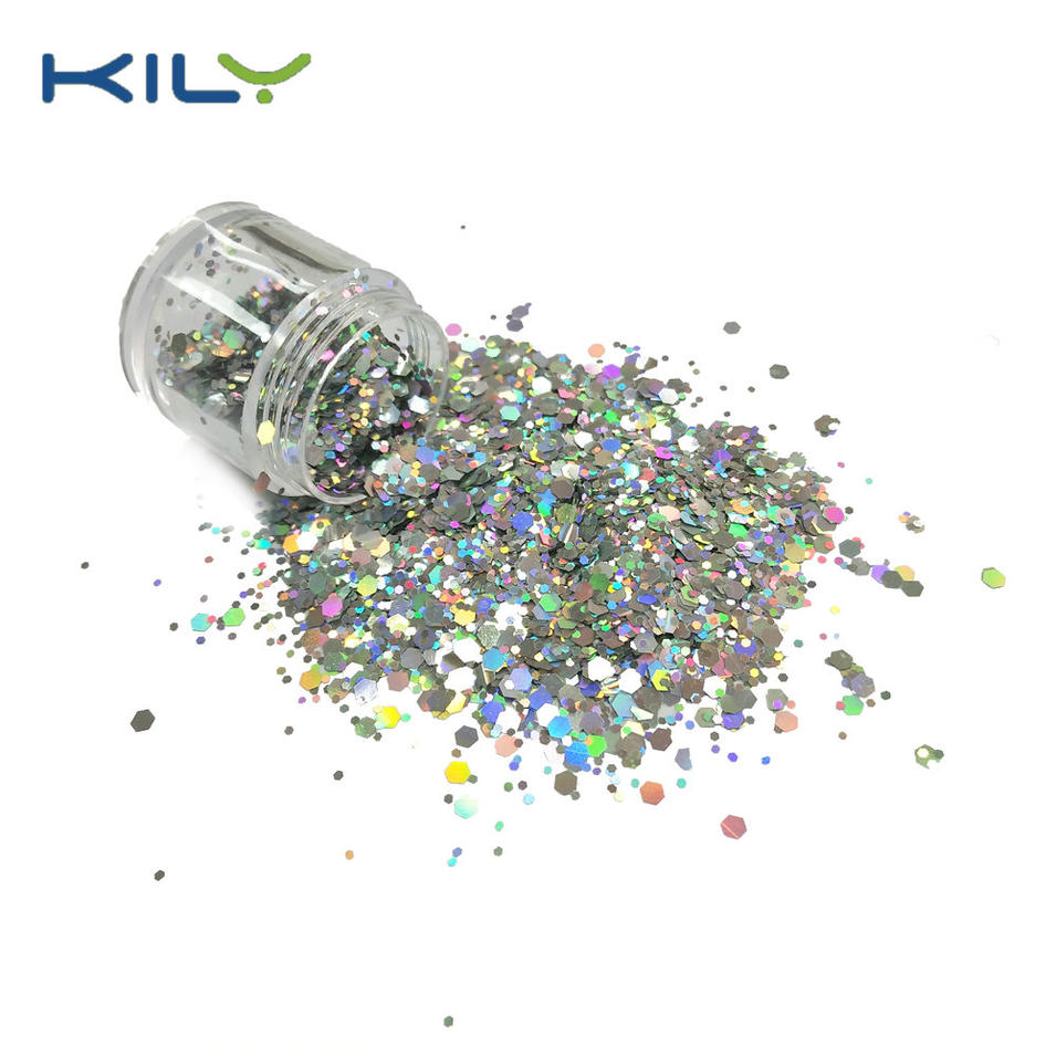 Cosmetic Silver Chunky Glitter for Face and Body Makeup CG14