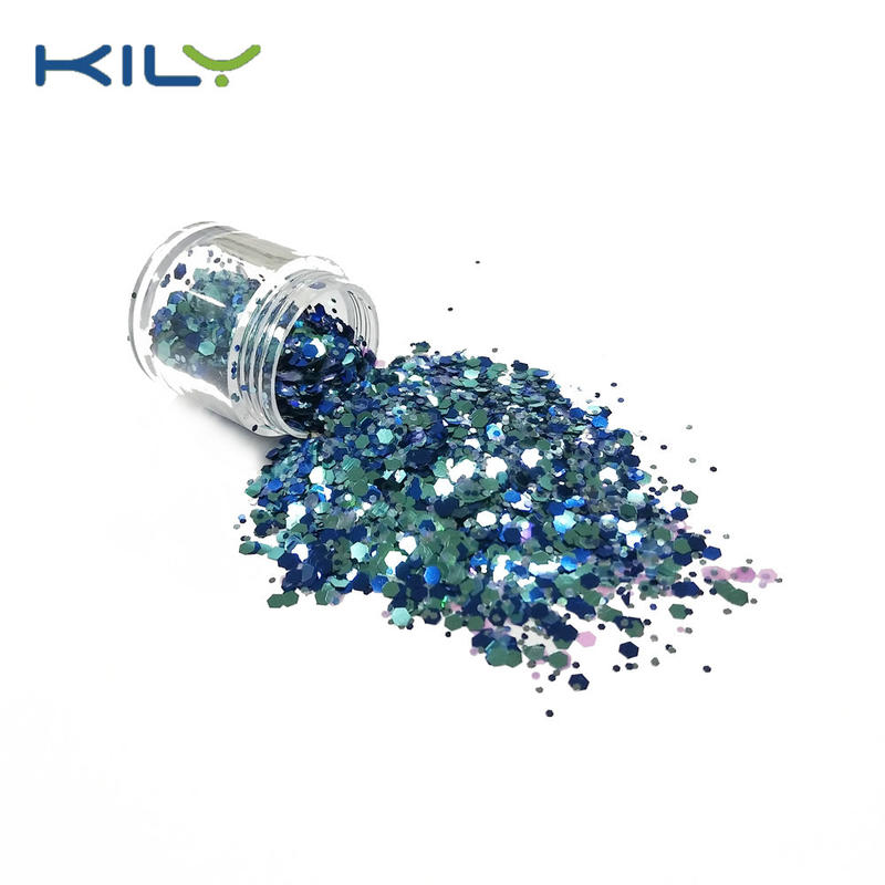 Eye Glitter PET Cosmetic Chunky Glitter for Christmas CG15