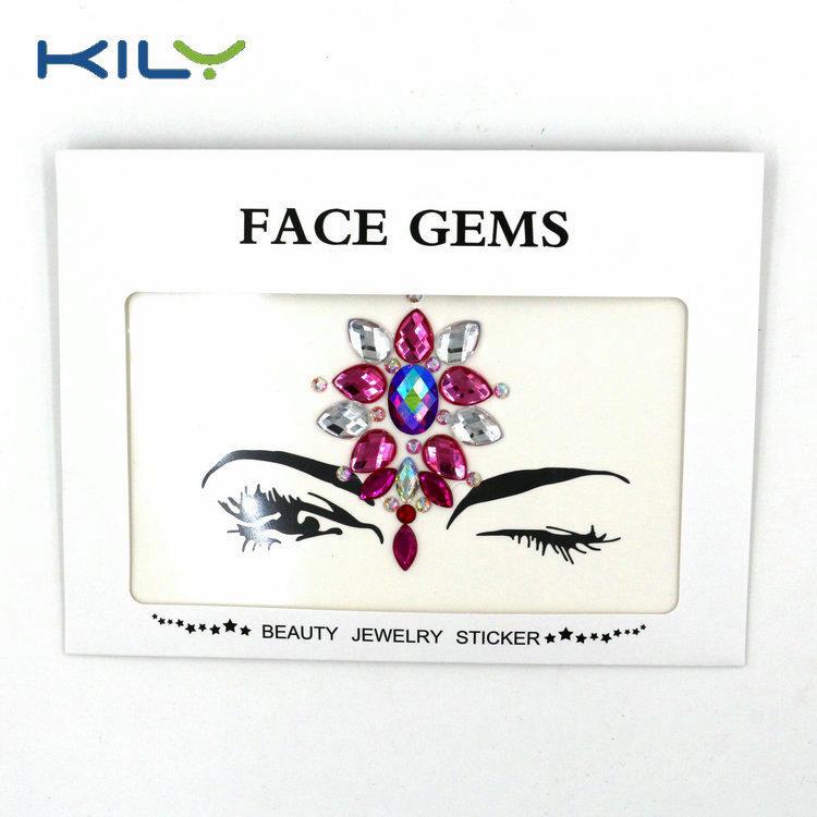 KILY Christmas Face Gems Rhinestone Sticker for Decoration KB-1065