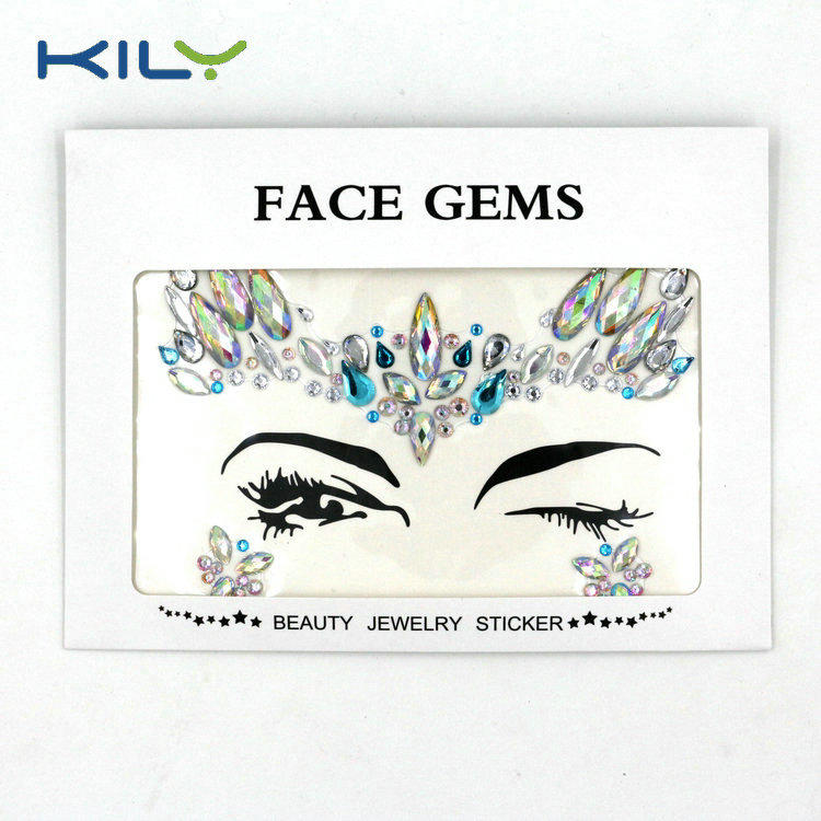 KILY Festival Season Face Jewels Gemstone for Halloween Makeup KB-1069