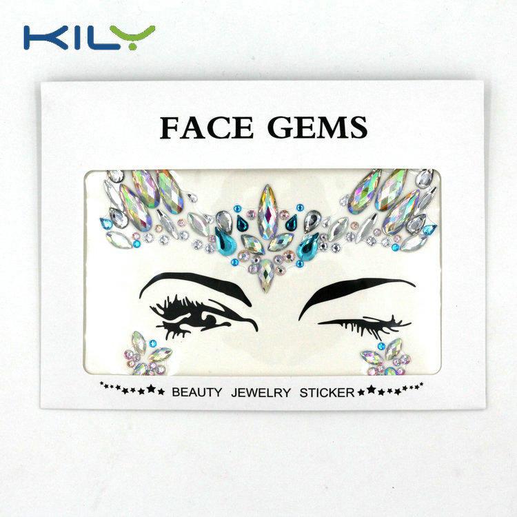 KILY Festival Season Face Jewels Gemstone for Halloween Makeup KB-1069