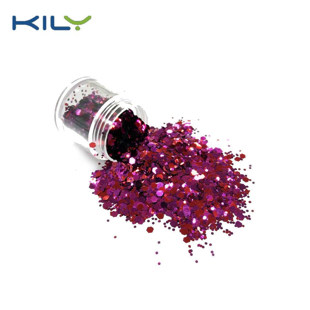 KILY Christmas Polyester Glitter Pot Glitter Create your Brand CG16