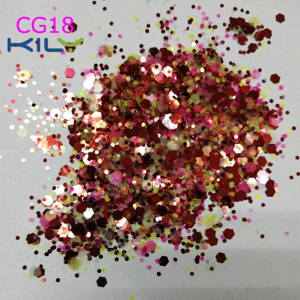 KILY Party Chunk Glitter Polyester Makeup Glitter for body CG18