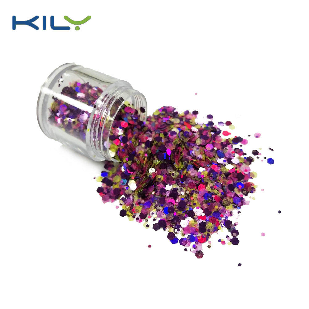 KILY Shine Glitter PET Festival Pot Glitter for face CG19