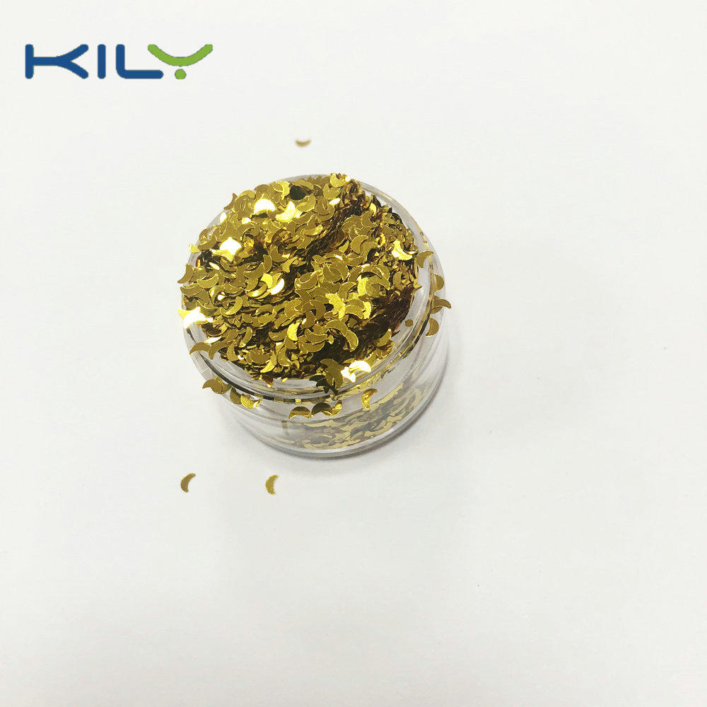 KILY Cosmetic PET Glitter Moon and Stars Shape Glitter for body
