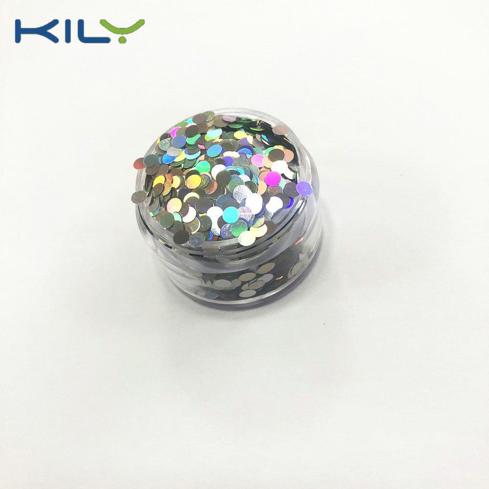 KILY Cosmetic Glitter Dot PET Glitter Round Shape Glitter LB100-K1