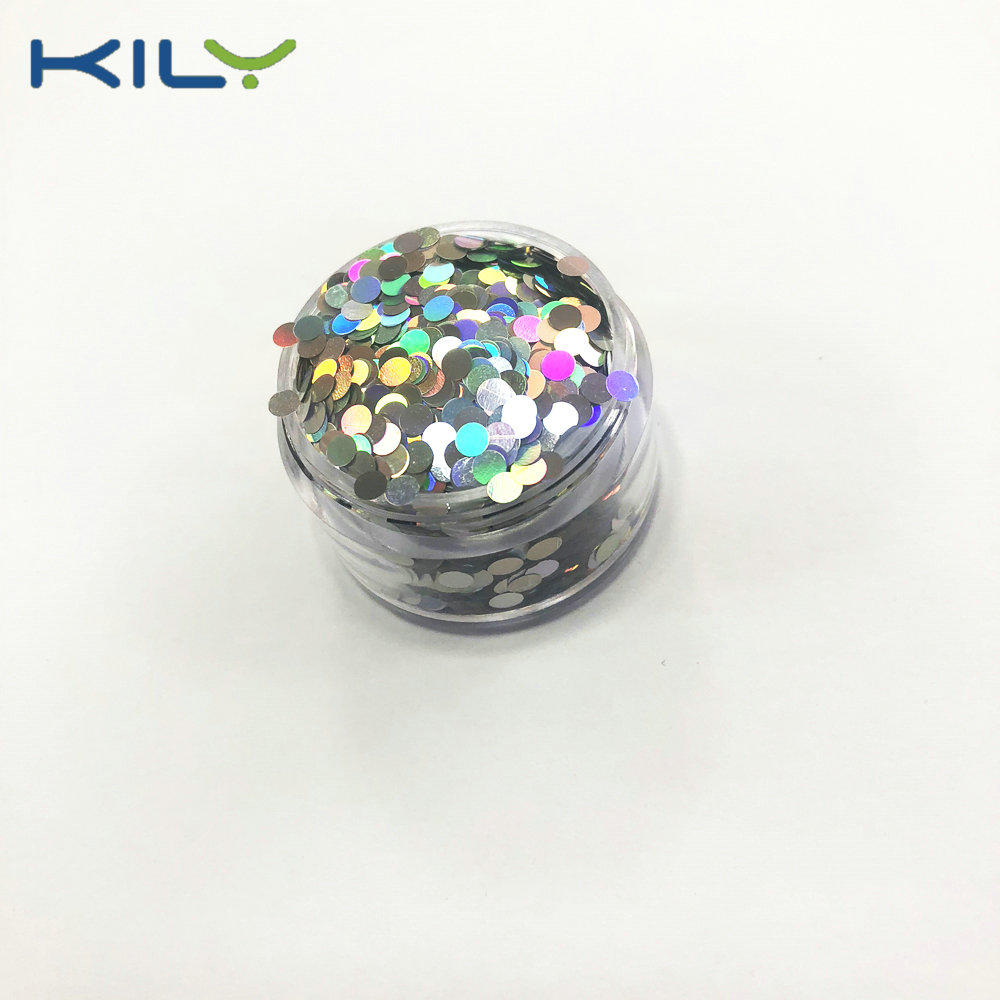KILY DIY Nail Art Star Glitter Holographic Silver Face Glitter LB-100
