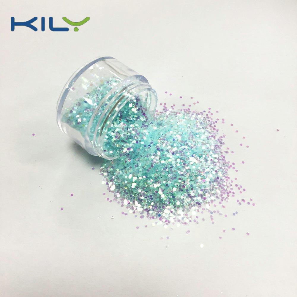 KILY Rainbow Cosmetic Pet Glitter Blue Iridescent Makeup Glitter C07