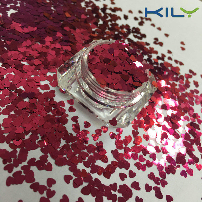 KILY Christmas Makeup Heart Glitter PET Cosmetic Eye Shadow Glitter