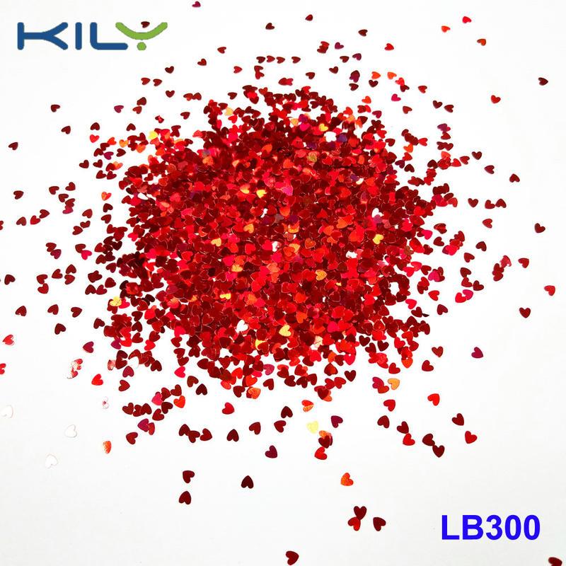 KILY Festival Cosmetic Heart Glitter PET Glitter Safe for Eyes LB300-3 heart