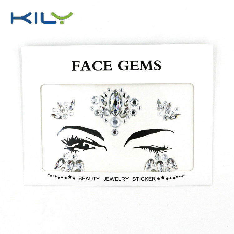 KILY Carnival rhinestone face gems sticker for body decoration KB-1071