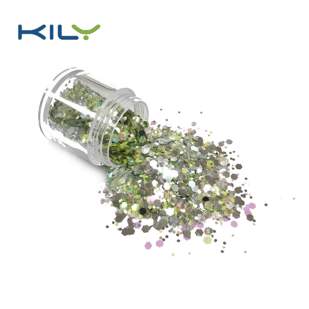 KILY Polyester Glitter Cosmetic Chunky Glitter for Eyes CG26