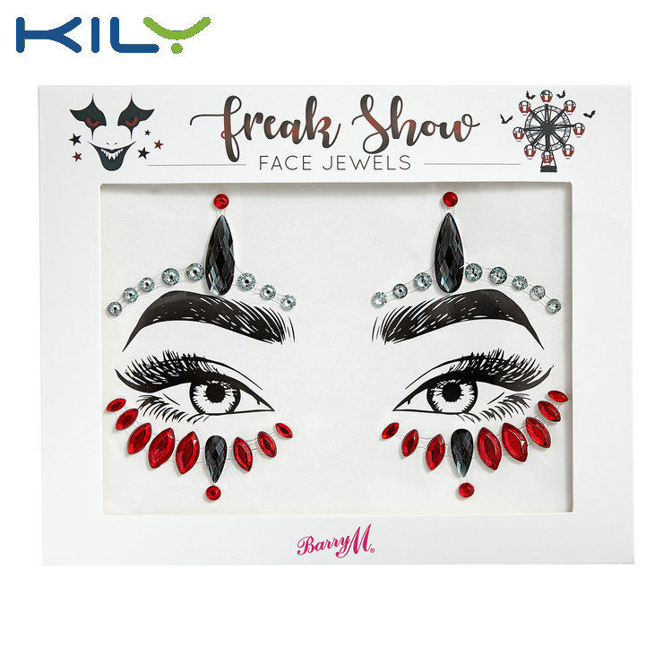 KILY Fashion face gems sticker for party decoration KB-1196