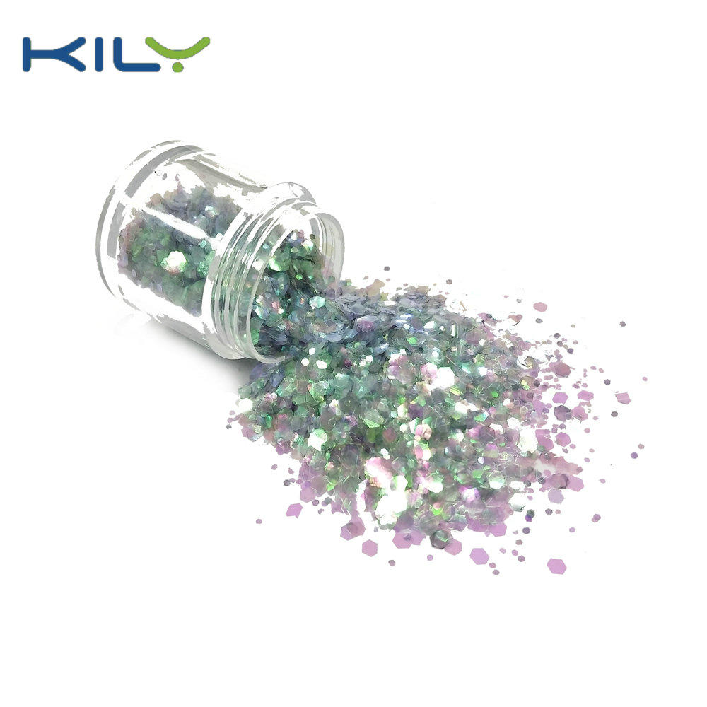 KILY cosmetic polyester chunky glitter bulk glitter CG27