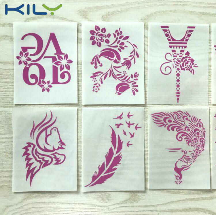 KILY cosmetic glitter tattoo sticker temporary makeup glitter tattoo