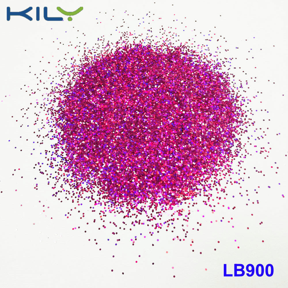 KILY Cosmetic polyester laser glitter holographic rose glitter LB900