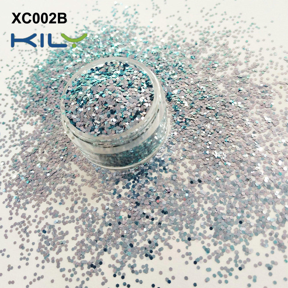 KILY high quality of cosmetic shifting color glitter XC002B