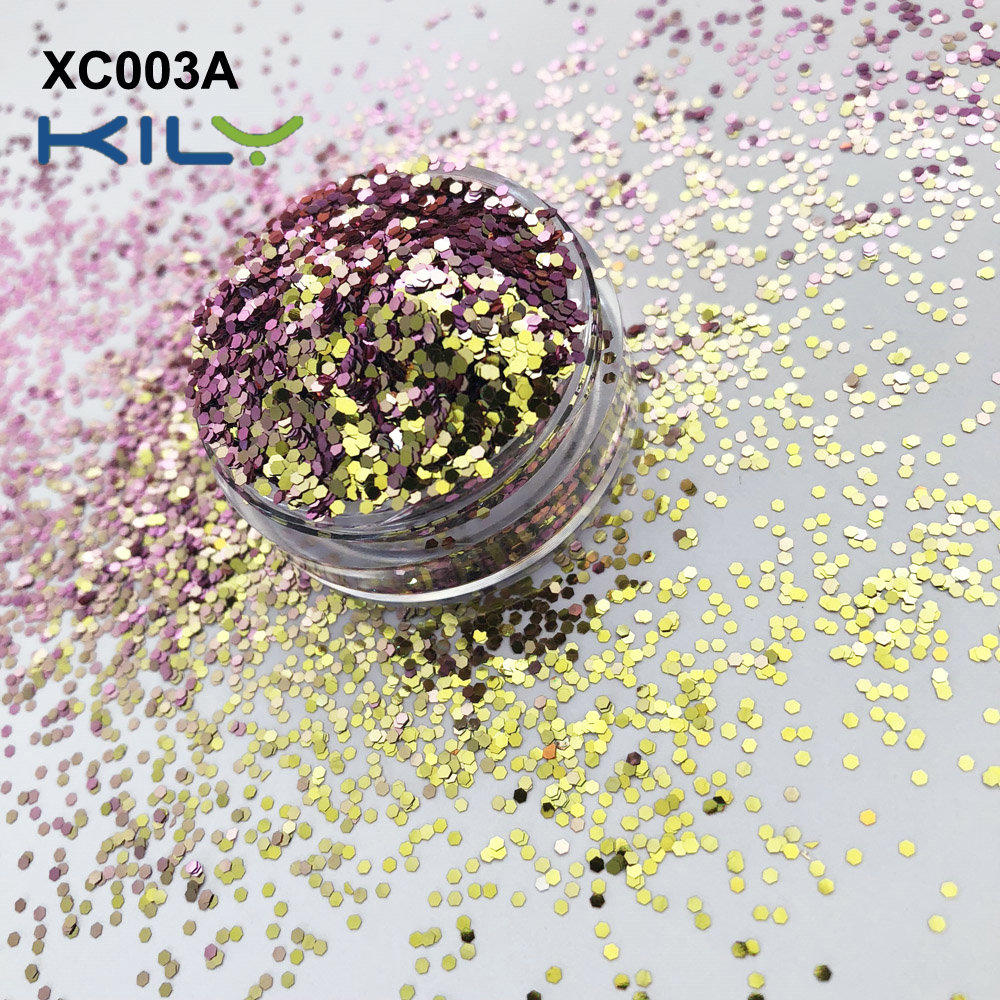 KILY Cosmetic two color change color shifting makeup glitter XC003A