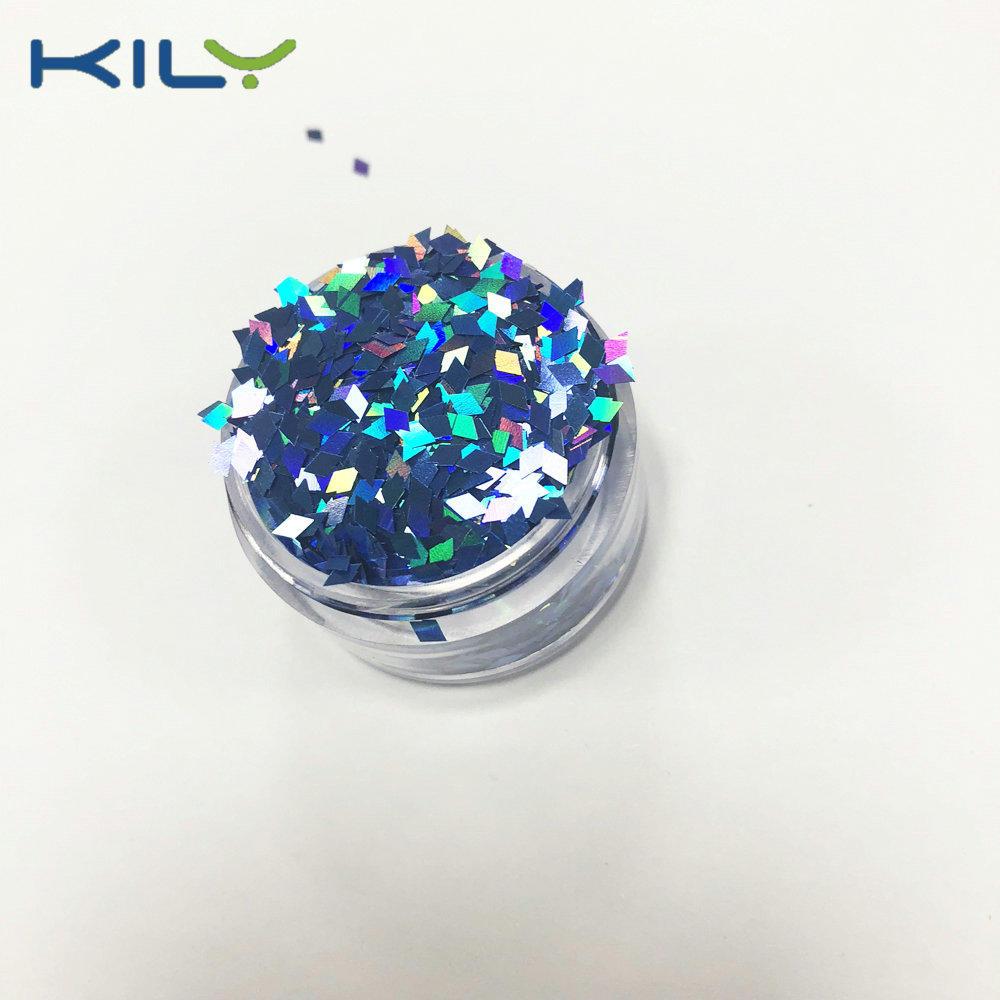 KILY Diamond Shapes Glitter Holographic PET Cosmetic Glitter for Face LB705-1