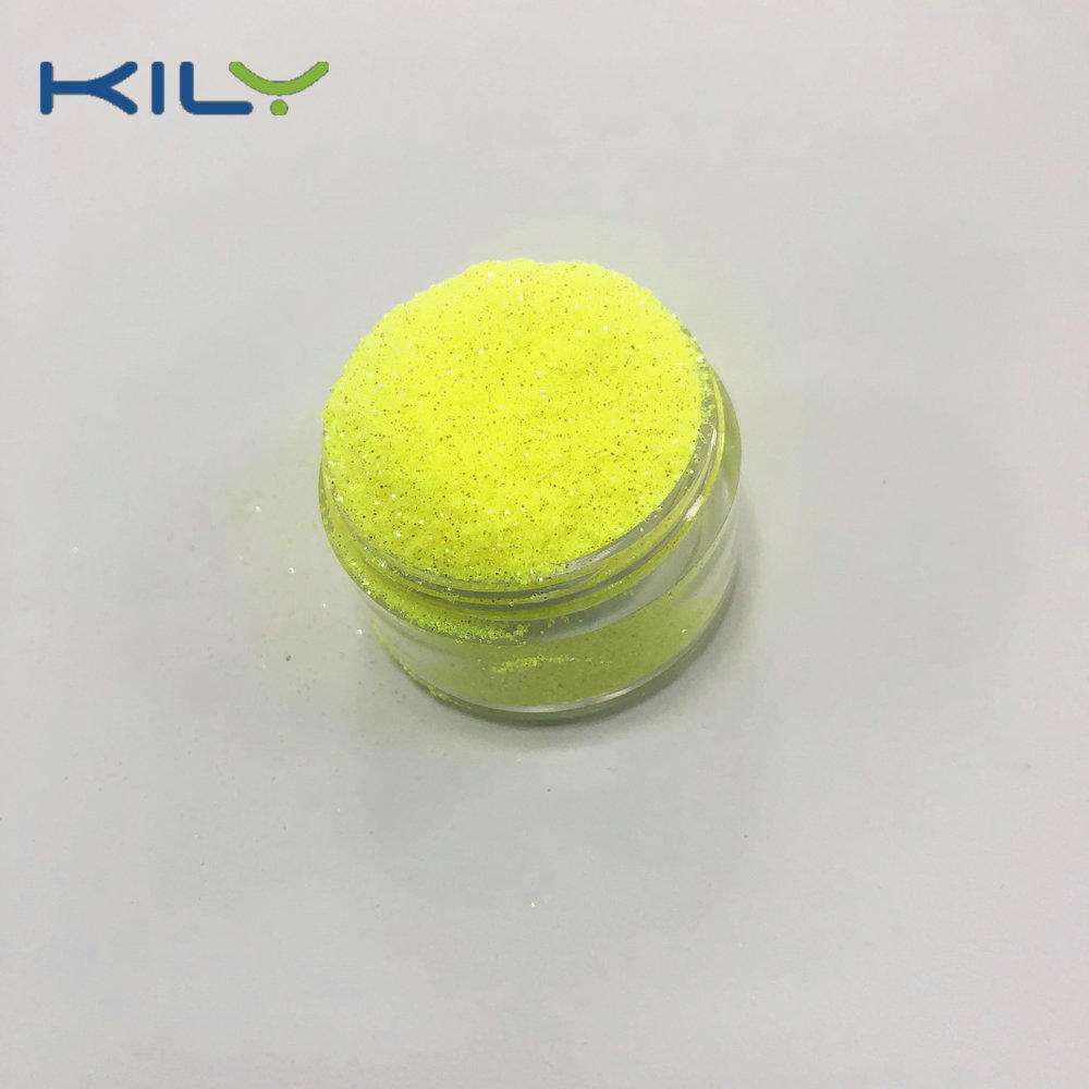 KILY Mermaid iridescent yellow glitter cosmetic PET glitter for eye C50-2