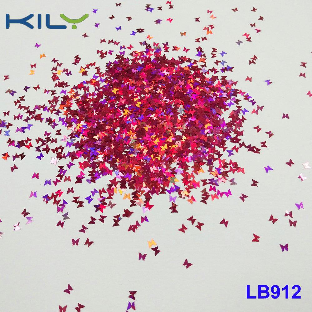KILY Cosmetic Butterfly shape glitter pet laser glitter for Carnival LB912