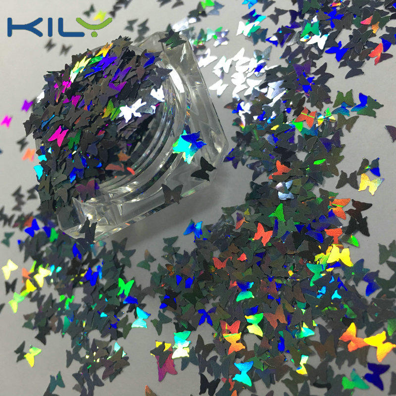 KILY Laser Butterfly Glitter Cosmetic Polyester Glitter for Nail LB1002